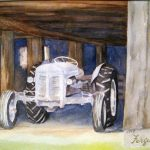 "Ferguson Tractor | Watercolour on Paper | 11"" x 15"" 