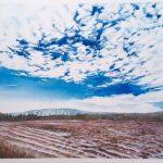"Big Sky Winter Hills - Watercolour on Canvas - 24"" x 30"""