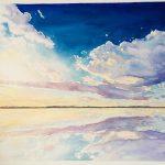 "Big Sky Georgian Bay - Watercolour on Canvas - 24"" x 30"""