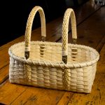 "Double-handled Market Basket | Reed and Cane | 13"" x 16.5"" 