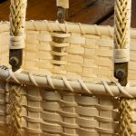 "Double-handled Market Basket (detail) | Reed and Cane | 13"" x 16.5"" 