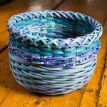 "Aqua Jewel | Round Reed and Beads | 6"" x 9"" | $100"