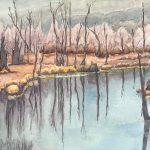 "Bognor Marsh | Watercolour | 17"" x 26"" | $700"