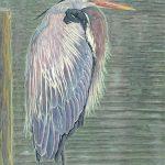 "Blue Heron, Florida | Watercolour | 24"" x 18"" | SOLD"
