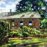 "School House | Gouache on Panel | 15"" x 20"" | Price on Request"