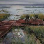 "St. Mary's River, Echo Bay, ON | Pastel | 9.5"" x 19.5"" 