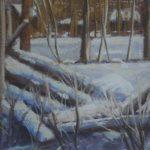"Little Snow Scene | Pastel | 5"" x 6.5"" | $180"