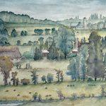"Sydenham Hills | Watercolour | 18"" x 21"" | $500"