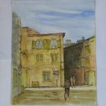 "Place Michel Avignon | Watercolour | 10"" x 8"" 