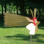 "Shooting Star Weathervane | Wood and Steel | 19"" x 8"" x 12"" 