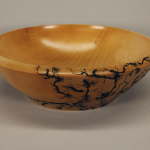 Bowl - Wild Pear Wood with Lichtenberg fractal burn