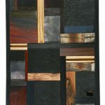"Untitled | Mixed Wood Wall Hanging | 14"" x 9"" 