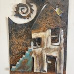 "House | Wall Sculpture | Sheet Metal | 16"" x 12"" 