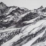 "Tectonics | Conté | 16.5"" x 13"" | $500 (framed)"