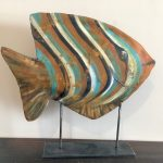 "Angel Fish | Formed Sheet Metal Sculpture | 10"" x 12"" 